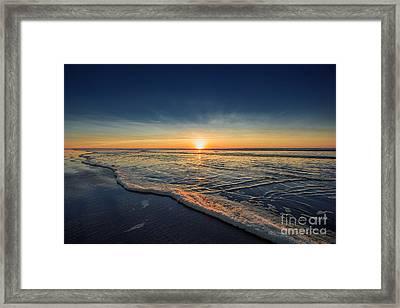 Navy Sunset Framed Print by Lucid Mood