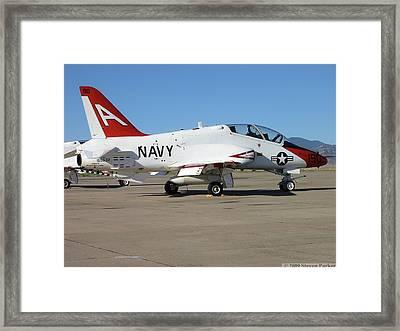 Navy T-45 Goshawk Framed Print by Steven Parker