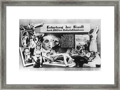 Nazi Anti-soviet Display Of Jewish Framed Print by Everett