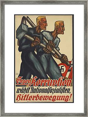 Nazi Party Poster For The German Framed Print by Everett