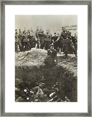 Nazi Police And Wehrmacht Soldiers Framed Print by Everett