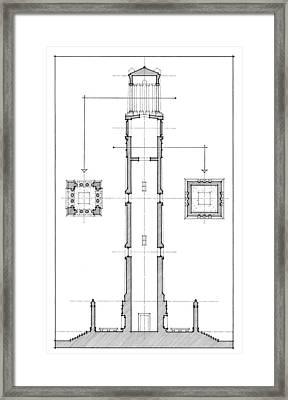 Ncsu Memorial Bell Tower Framed Print by Calvin Durham