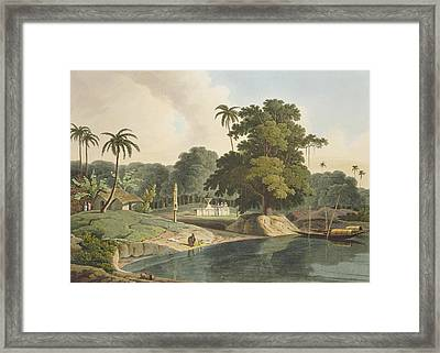 Near Bandell On The River Hoogly, Plate Framed Print by Thomas & William Daniell
