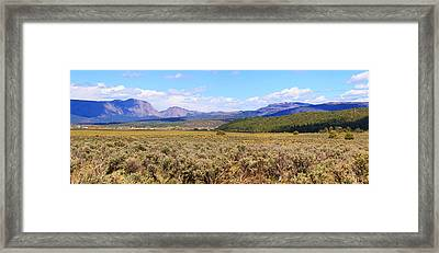Near Chama New Mexico Framed Print by Roena King