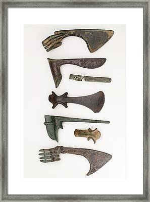 Near East Bronze Age Axes Framed Print by Paul D Stewart