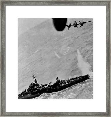 Near Miss Framed Print by Unknown