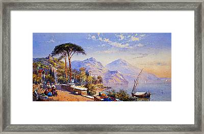 Near Naples Framed Print by Celestial Images