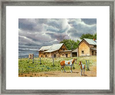 Near Taos Framed Print by Paul Krapf
