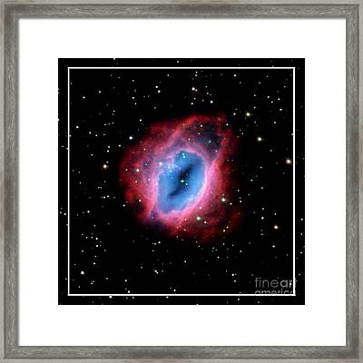 Nebula And Stars Nasa Framed Print by Rose Santuci-Sofranko
