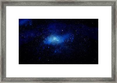 Nebula Ceiling Mural Framed Print by Frank Wilson