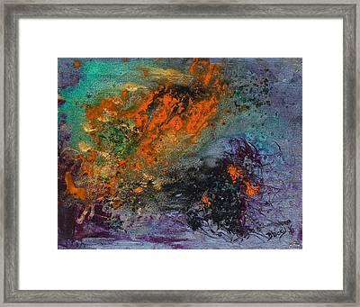 Nebula Cloud  Framed Print by Donna Blackhall