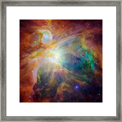 Chaos At The Heart Of Orion Framed Print by Nasa