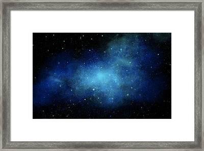 Nebula Mural Framed Print by Frank Wilson