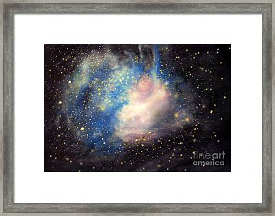 Nebula Ngc 346 Framed Print by Allison Ashton