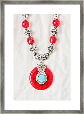 Necklace Framed Print by Tom Gowanlock