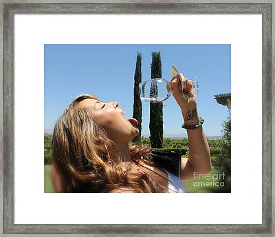 Necture Of The Gods...every Last Drop Framed Print by Pamela Walrath
