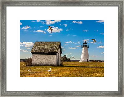 Ned's Point Lighthouse Framed Print by Dean Martin