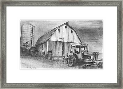 Neglected Barn Framed Print by Jimmy Wood