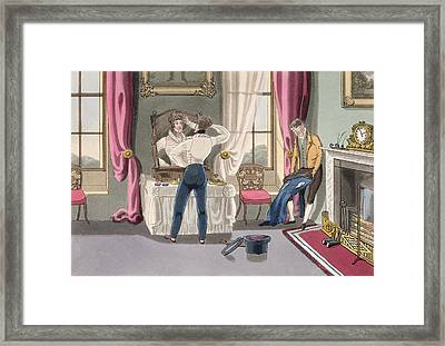 Negligence, Plate 1 From The Necessary Framed Print by Daniel Thomas Egerton