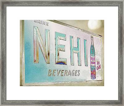 Nehi Ice Cold Beverages Sign Framed Print by Liane Wright