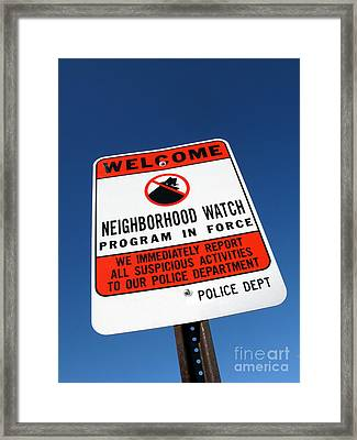 Neighborhood Watch Framed Print by Olivier Le Queinec