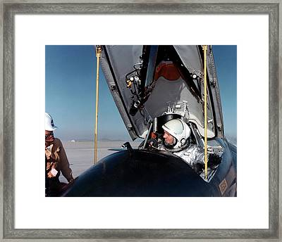 Neil Armstrong As X-15 Test Pilot Framed Print by Nasa