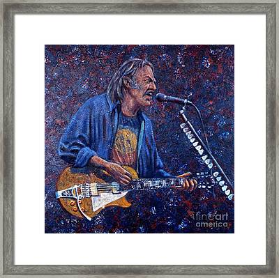 Neil Young Framed Print by John Cruse Knotts