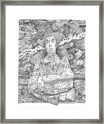 Neil Young Lives Music Framed Print by Lance Graves
