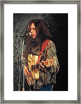 Neil Young Framed Print by Taylan Soyturk