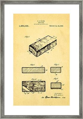 Nelson Eskimo Pie Patent Art 1922 Framed Print by Ian Monk
