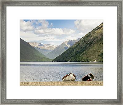 Nelson Lakes New Zealand Framed Print by Barbara Smith