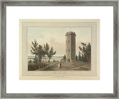 Nelson's Tower At Forres Town Framed Print by British Library