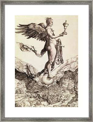 Nemesis Framed Print by Albrecht Durer