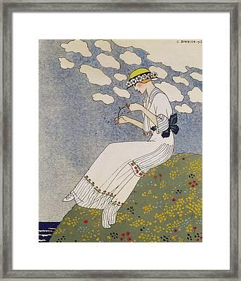 N'en Dites Rien Framed Print by Georges Barbier