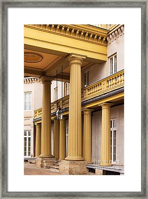Neo Classical Columns Framed Print by Barbara McMahon