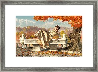 Neoclassical Fall Framed Print by Daniel Eskridge