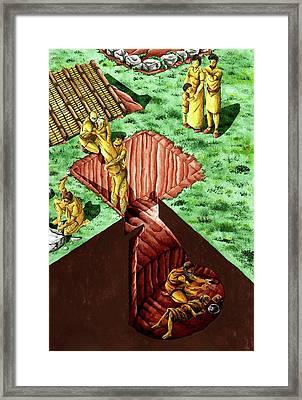 Neolithic Burial Pit Framed Print by Sergi Segura