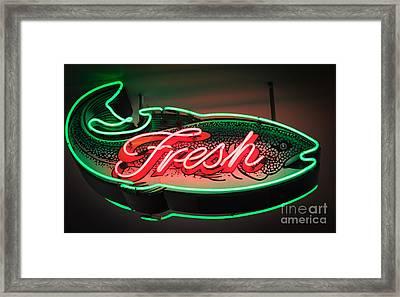 Neon Fish Framed Print by Inge Johnsson
