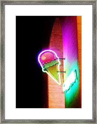 Neon Framed Print by Marion Roth