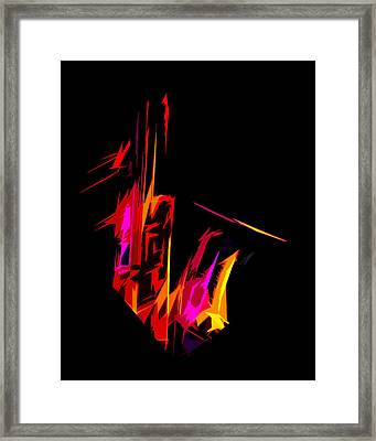 Neon Sax Framed Print by Terry Fiala