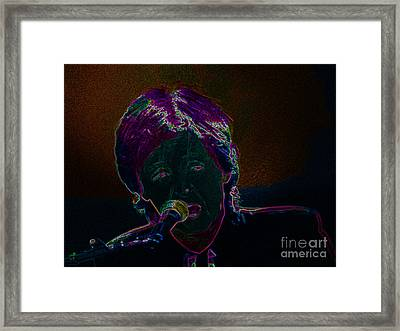 Neon Sir Paul Framed Print by Tina M Wenger