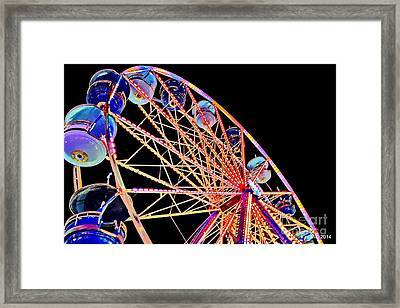 Neon Spin Framed Print by Tami Quigley