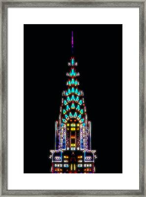 Neon Spires Framed Print by Az Jackson