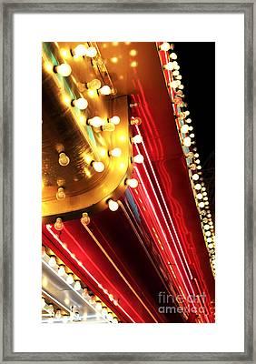 Neon Vegas Framed Print by John Rizzuto