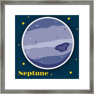 Neptune Framed Print by Christy Beckwith