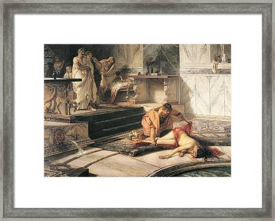 Nero And Agrippina Framed Print by Antonio Rizzi
