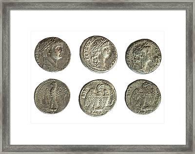 Nero Silver Tetradrachm Coins Framed Print by Photostock-israel