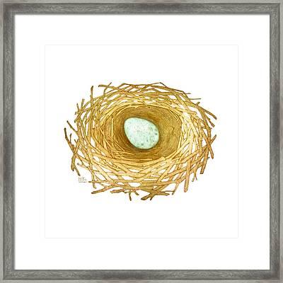 Nest And Egg Framed Print by Catherine Noel