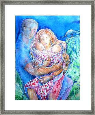 Nesting Pair  Framed Print by Trudi Doyle