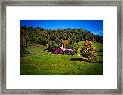 nestled in the hills of West Virginia Framed Print by Shane Holsclaw